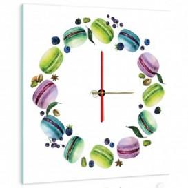Nástěnné hodiny - NH0278 - Makronky