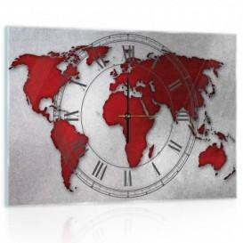 Nástenné hodiny - NH0279 - Mapa sveta