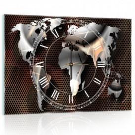 Nástenné hodiny - NH0287 - Mapa sveta