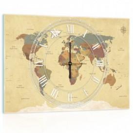 Nástenné hodiny - NH0292 - Mapa sveta