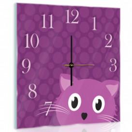 Nástěnné hodiny - NH0305 - Kočička