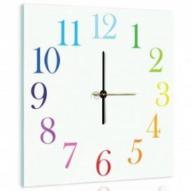 Nástěnné hodiny - NH0316 - Barevné čísla