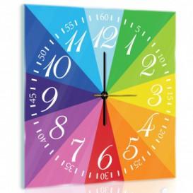 Nástěnné hodiny - NH0317 - Barevná duha