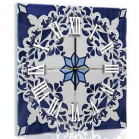 Nástenné hodiny - NH0318 - Modré ornamenty