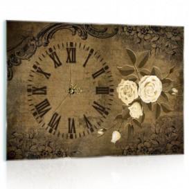 Nástenné hodiny - NH0322 - Vintage ruže