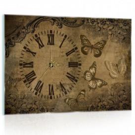 Nástenné hodiny - NH0324 - Vintage motýle