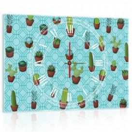 Nástenné hodiny - NH0347 - Kaktus