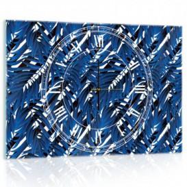 Nástenné hodiny - NH0351 - Modré papradie