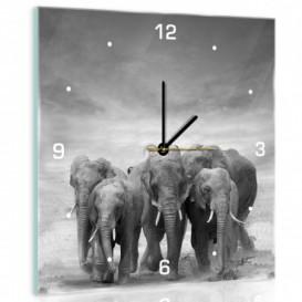 Nástěnné hodiny - NH0381 - Sloni