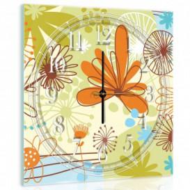 Nástěnné hodiny - NH0415 - Květiny