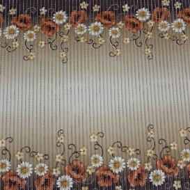 Penová predložka Hnedé kvety 0,65x1m