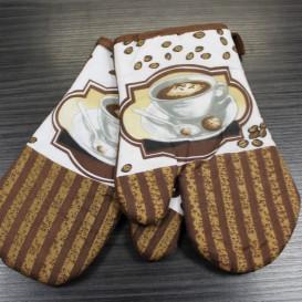 Kuchynské rukavice 2ks hnedá