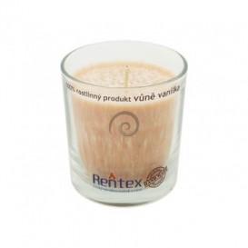 Palmová svíčka ve skle - vanilka