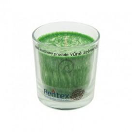 Palmová svíčka ve skle zelený čaj