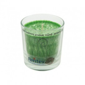 Palmová sviečka v skle zelený čaj