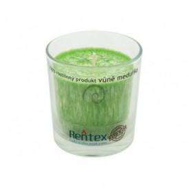 Palmová svíčka ve skle meduňka