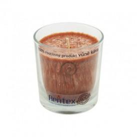 Palmová svíčka ve skle - káva