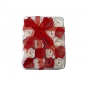 Mydlové konfety 20ks – červenobiele