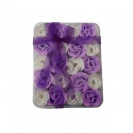 Mydlové konfety 20ks – fialovobiele