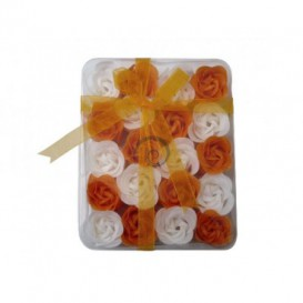 Mýdlové konfety 20ks - oranžovobiele