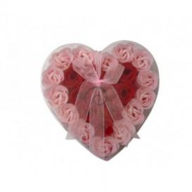 Mýdlové konfety 24ks - růžovočervené