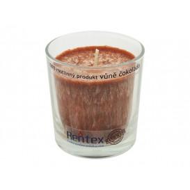 Palmová sviečka v skle – čokoláda