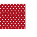 Samolepící fólie 200-3222 Srdíčka červená 45cmx15m