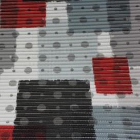 Penová predložka Sivé kocky šírka 65cm