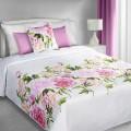 Prehoz na posteľ  Ružové kvety