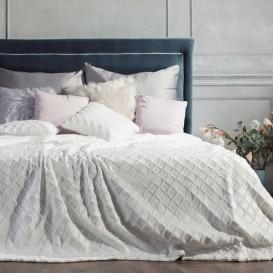Prehoz na posteľ Milim biela