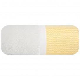 Osuška Zig-zag bielo-žltá