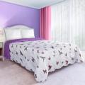 Prehoz na posteľ obojstranný Motýle