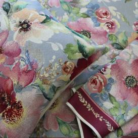 Gobelínový ubrus Akvarelové květiny