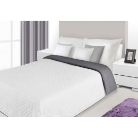 Prehoz na posteľ obojstranný Sivo-biely 170x210