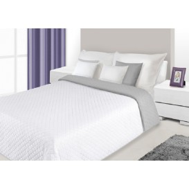 Prehoz na posteľ obojstranný Sivo-biely 220x240