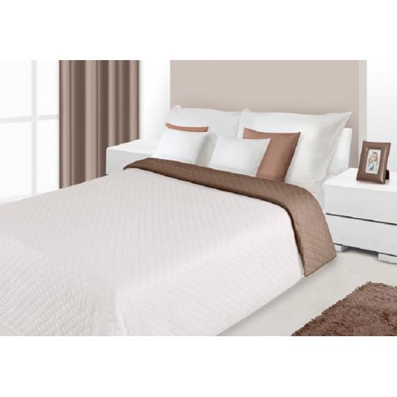 Prehoz na posteľ obojstranný Hnedo-biely 220x240cm