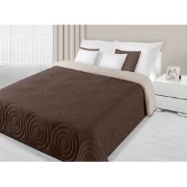 Prehoz na posteľ obojstranný Hnedo-béžový 170x210cm