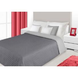 Prehoz na posteľ obojstranný Sivý 220x240cm