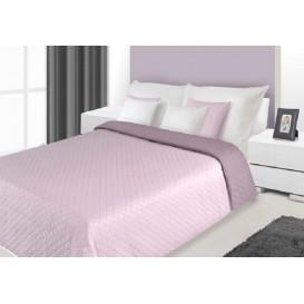 Prehoz na posteľ obojstranný Ružový 220x240cm