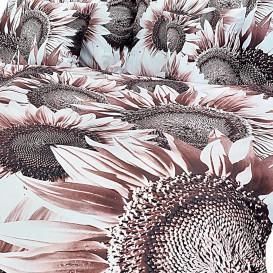 Posteľné obliečky bavlnený satén slnečnice
