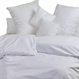 Posteľné obliečky bavlnený satén biele