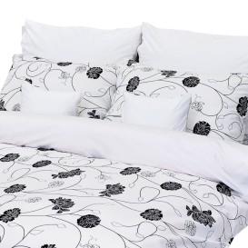 Posteľná bielizeň Čiernobiele kvety