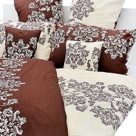 Posteľná bielizeň Hnedé ornamenty