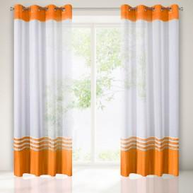 Hotová záclona Oranžový lem 140x250cm