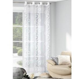Hotová záclona smotanová  ornamenty 140x250cm