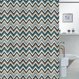 Kúpeľňový záves  Zig-zag 180x180cm
