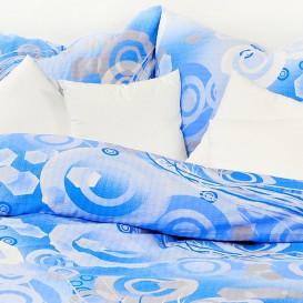 Posteľné obliečky bavlnené Modré kruhy