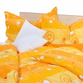 Posteľné obliečky bavlnené Oranžové bublinky