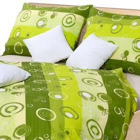 Posteľné obliečky bavlnené Zelené bublinky