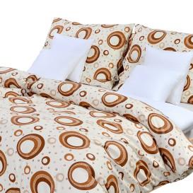Posteľné obliečky bavlnené Hnedé kruhy